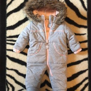Beautiful Baby Girl snowsuit